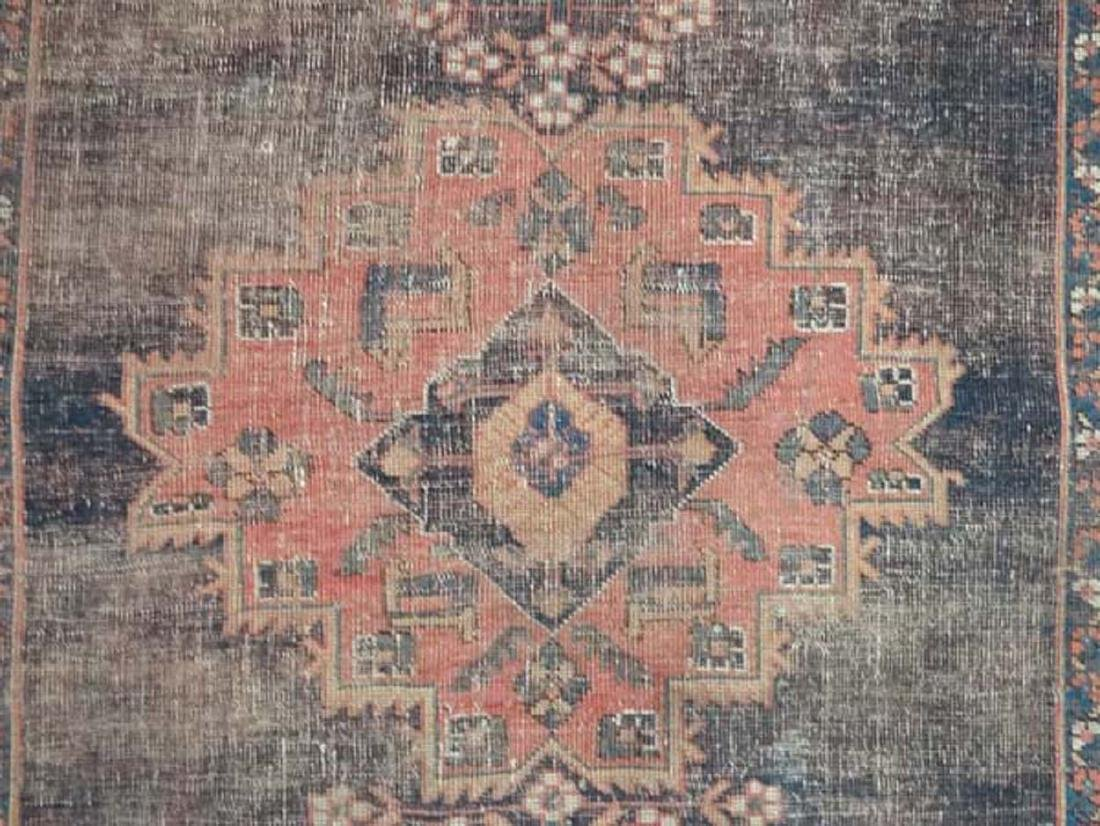 Carpet / Rug: An old Afghanistan rug with mainly dark - 4