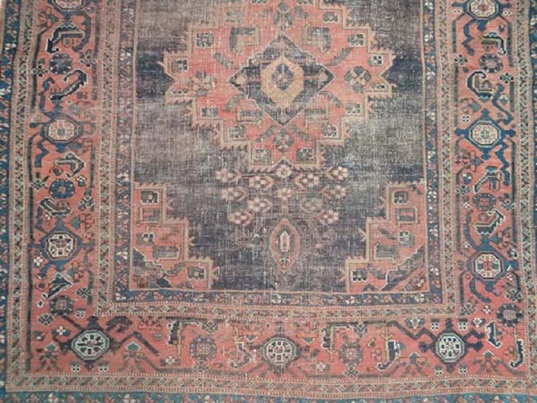 Carpet / Rug: An old Afghanistan rug with mainly dark - 5