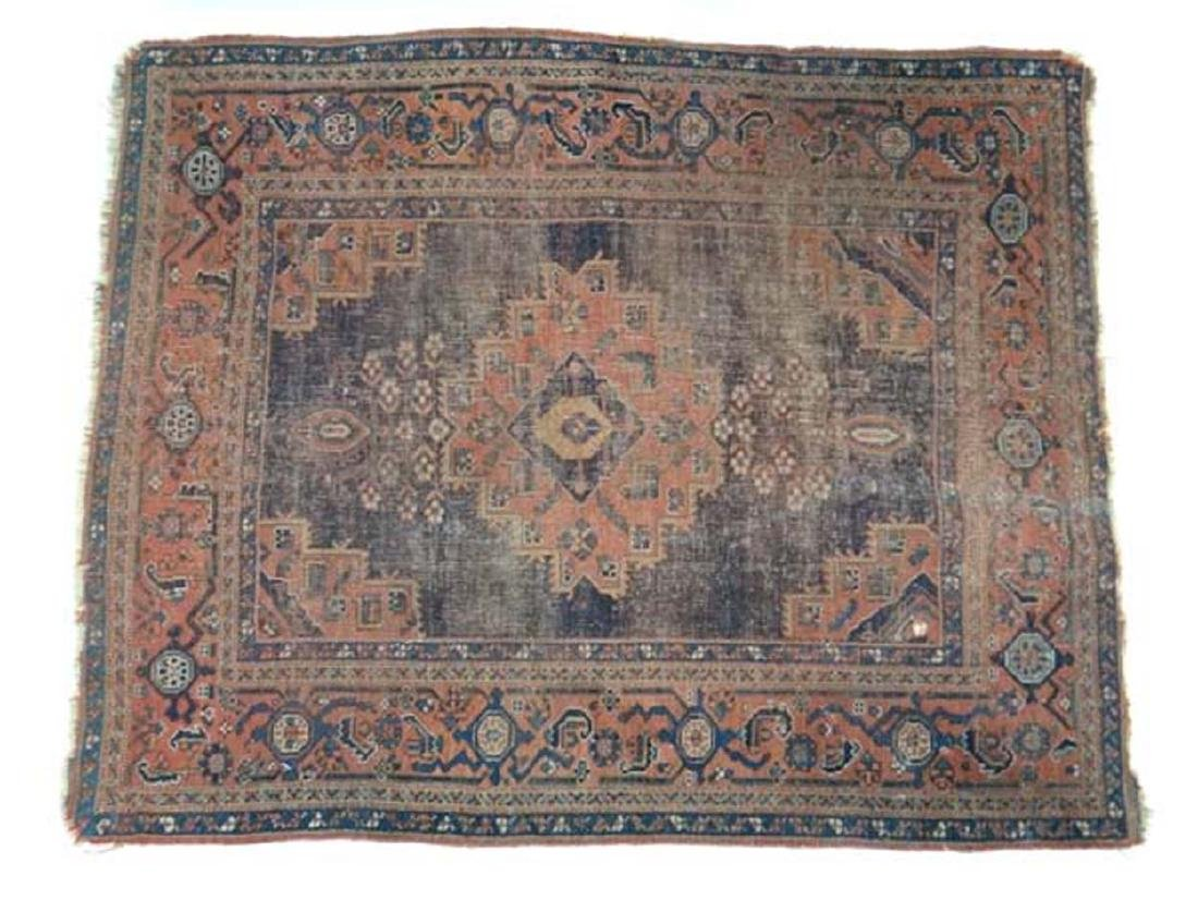 Carpet / Rug: An old Afghanistan rug with mainly dark - 6