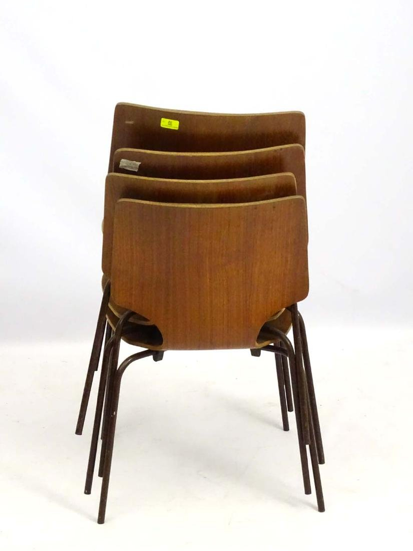 Vintage Retro: A set of 4 circa 1960 Stacking  chairs - 2