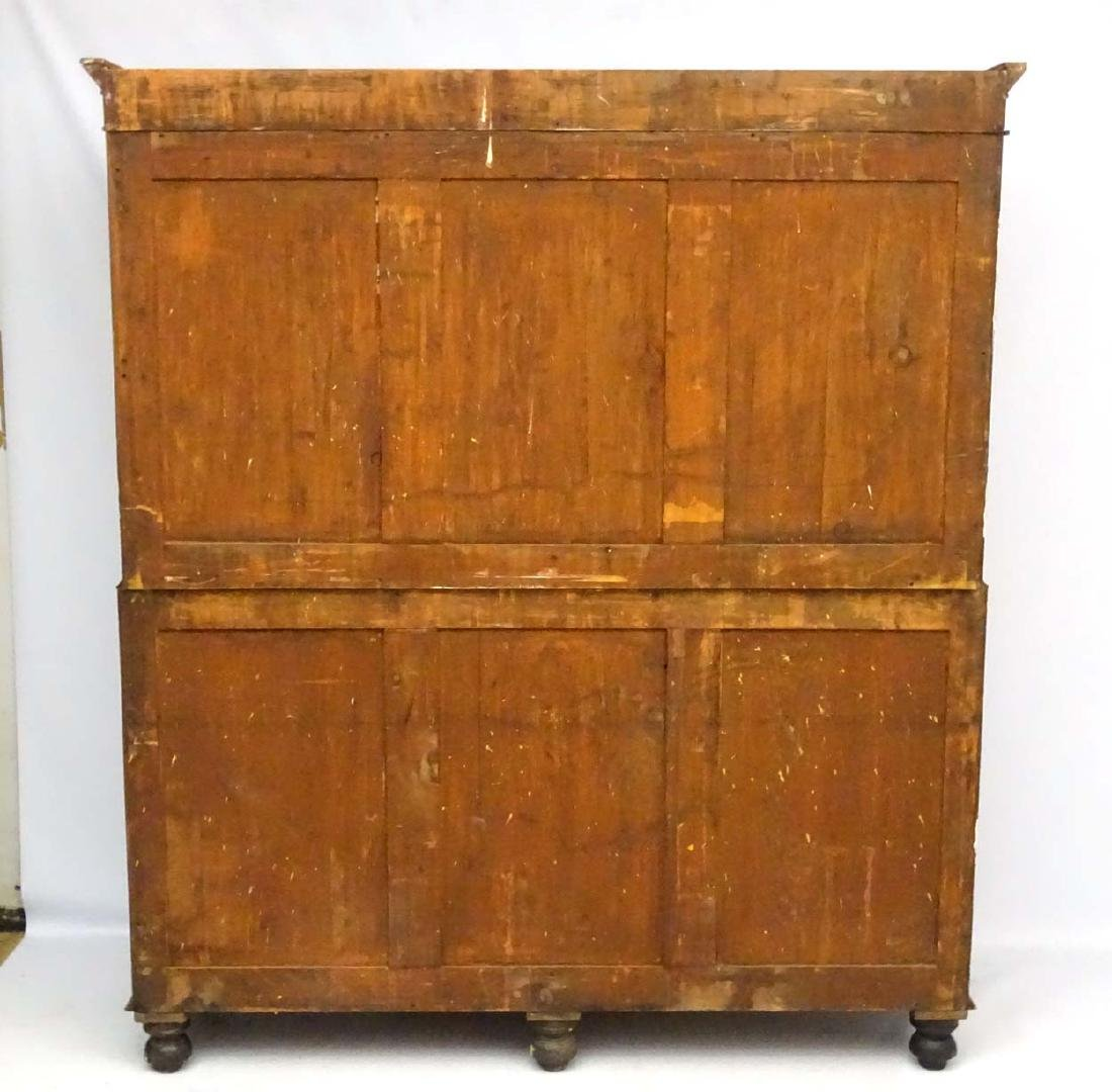 A late 19thC mahogany large two sectional cupboard, - 2
