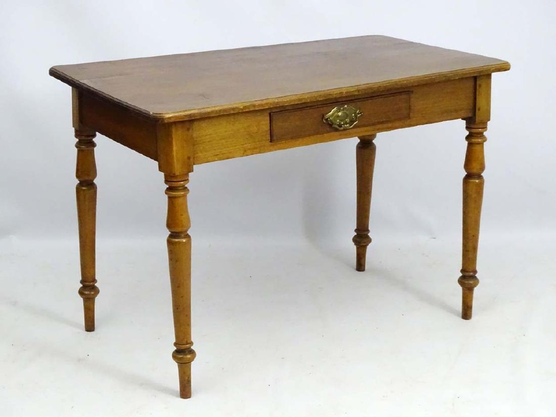 An early / mid 19thC side table / writing table,