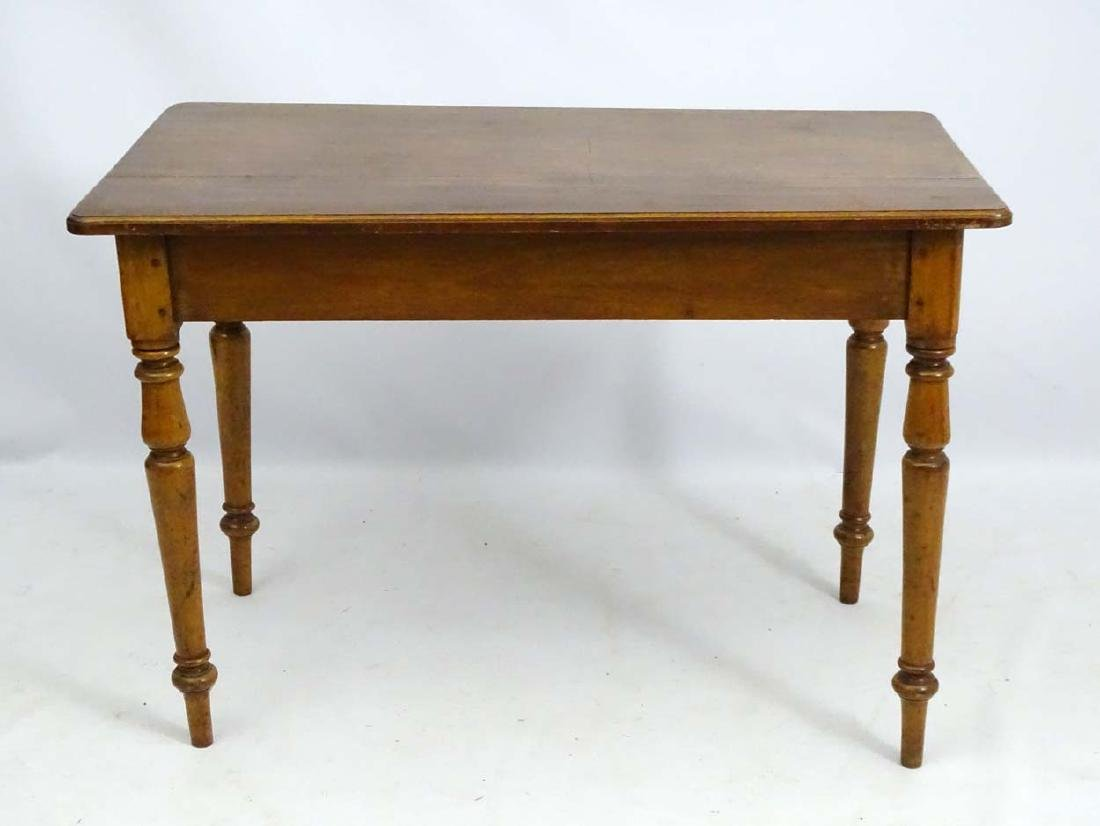 An early / mid 19thC side table / writing table, - 2