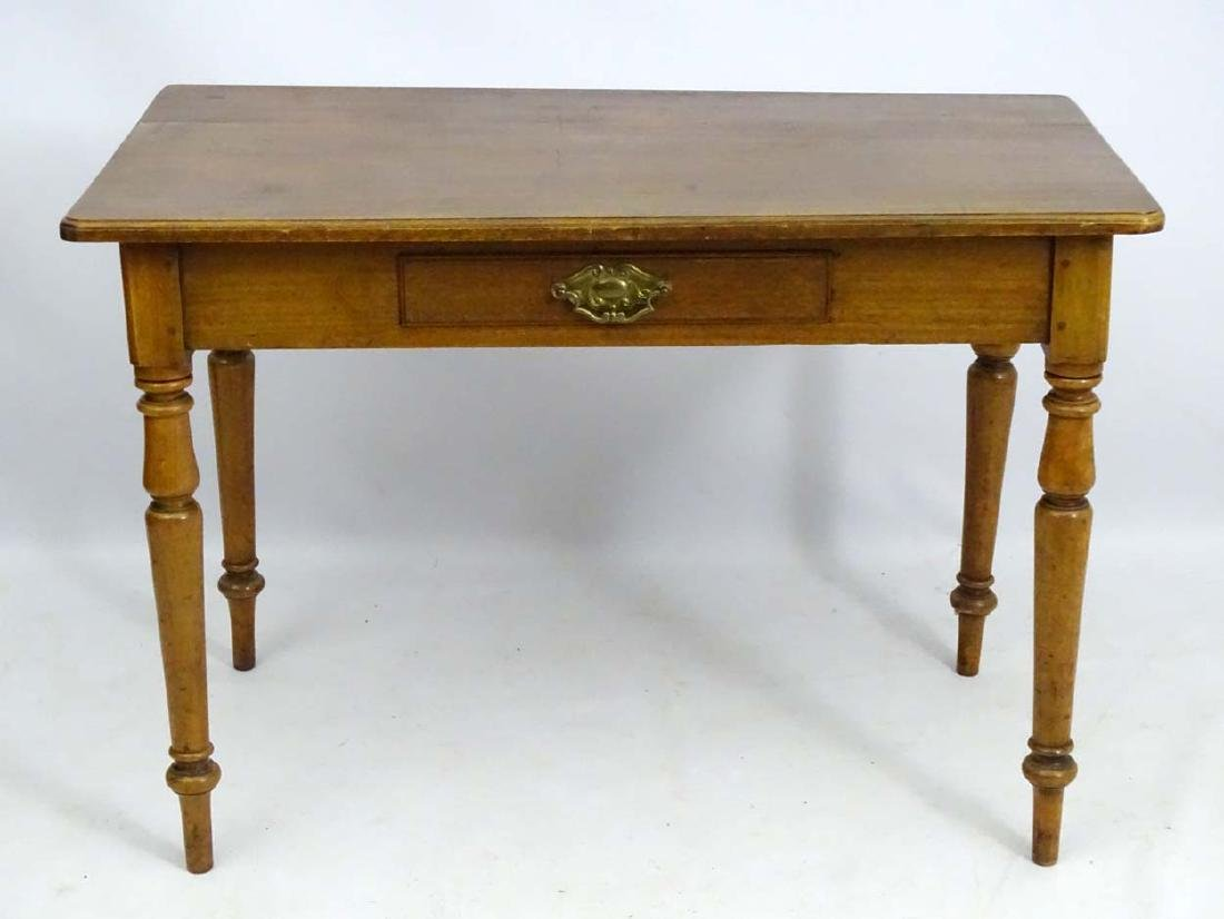 An early / mid 19thC side table / writing table, - 3