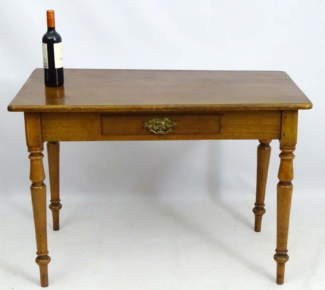 An early / mid 19thC side table / writing table, - 4
