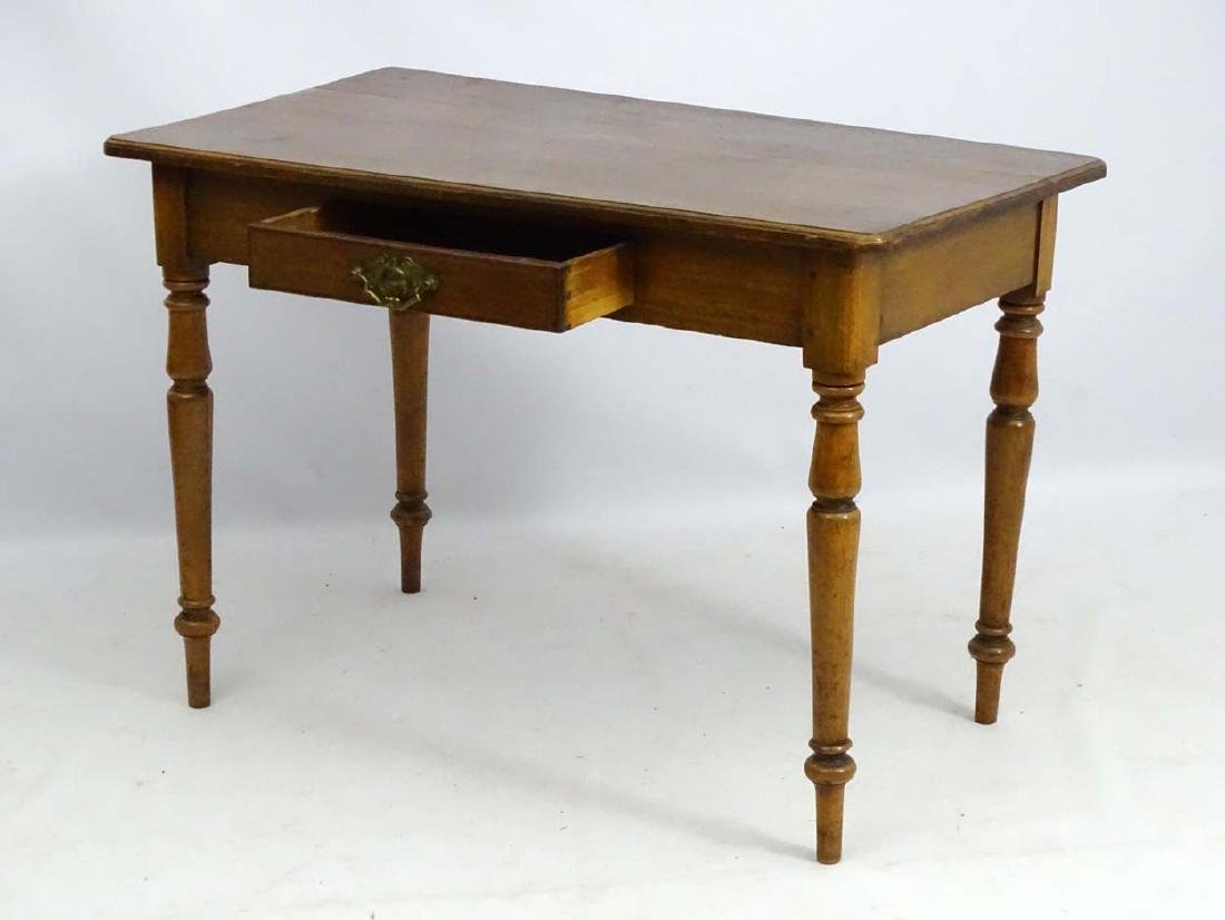 An early / mid 19thC side table / writing table, - 5
