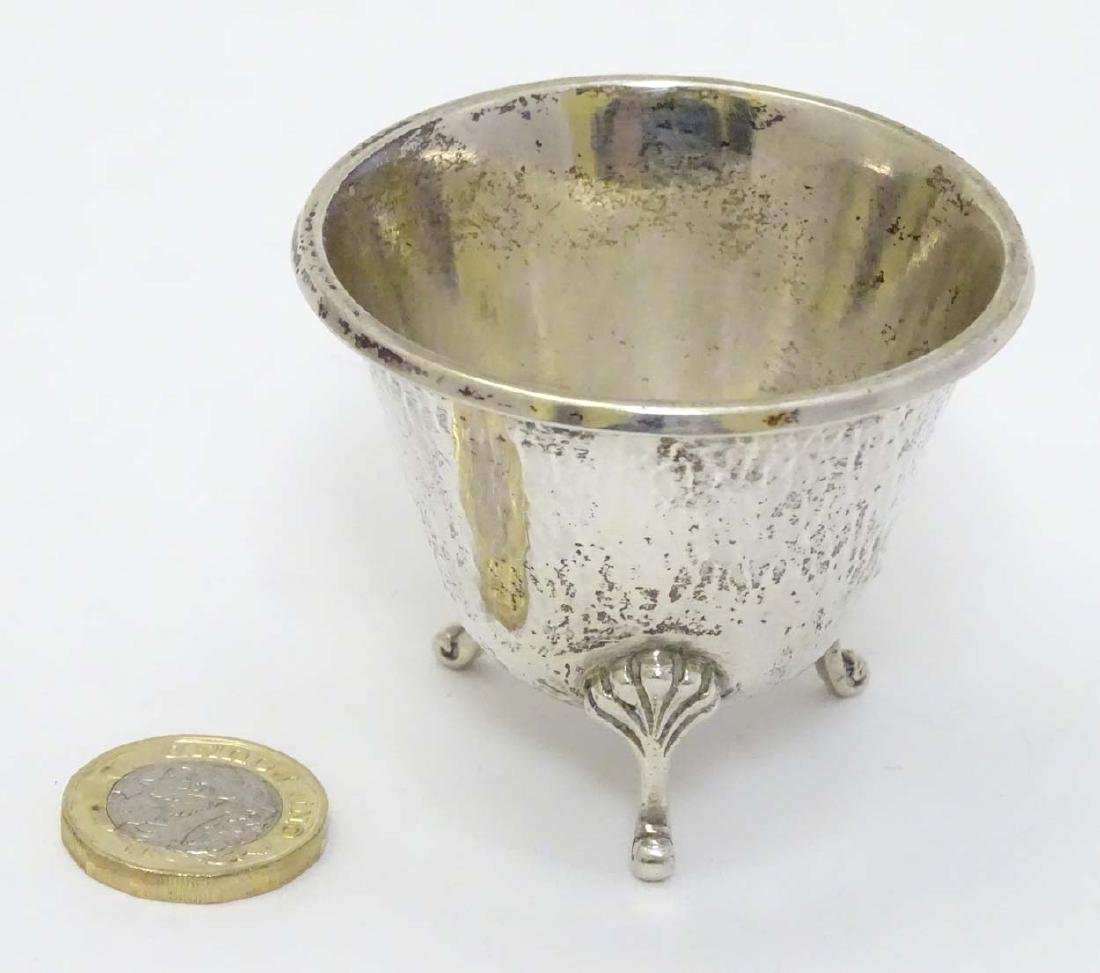 A German Arts and Crafts small bowl with hammered