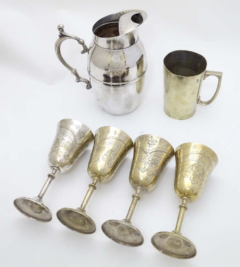 Assorted silver plated wares to include tankard, ice - 3