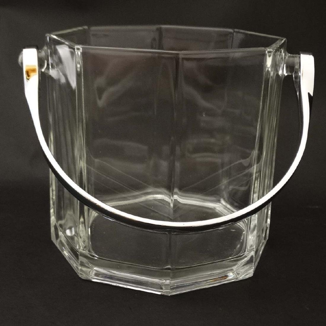 An octagonal glass ice bucket together with 6 octagonal - 5