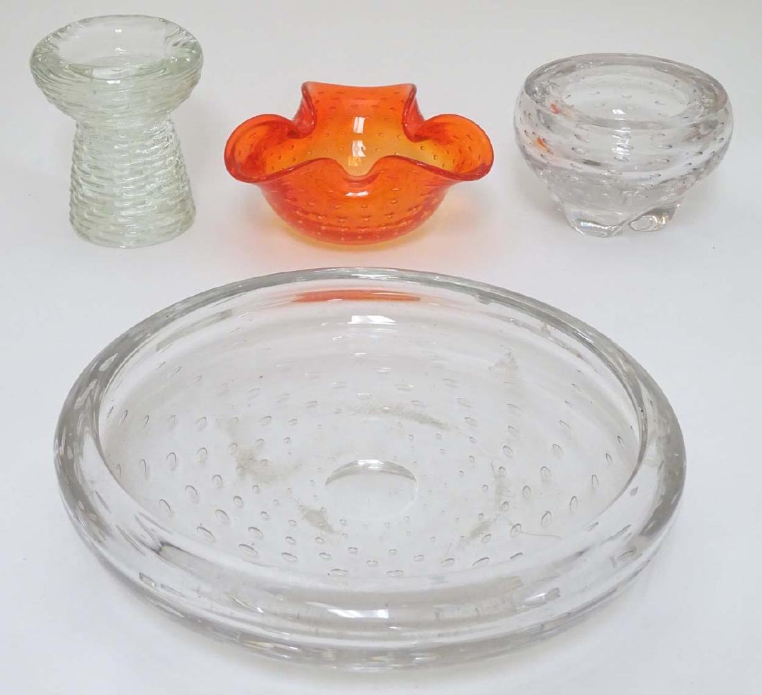 Glass : a collection of four assorted glass items in