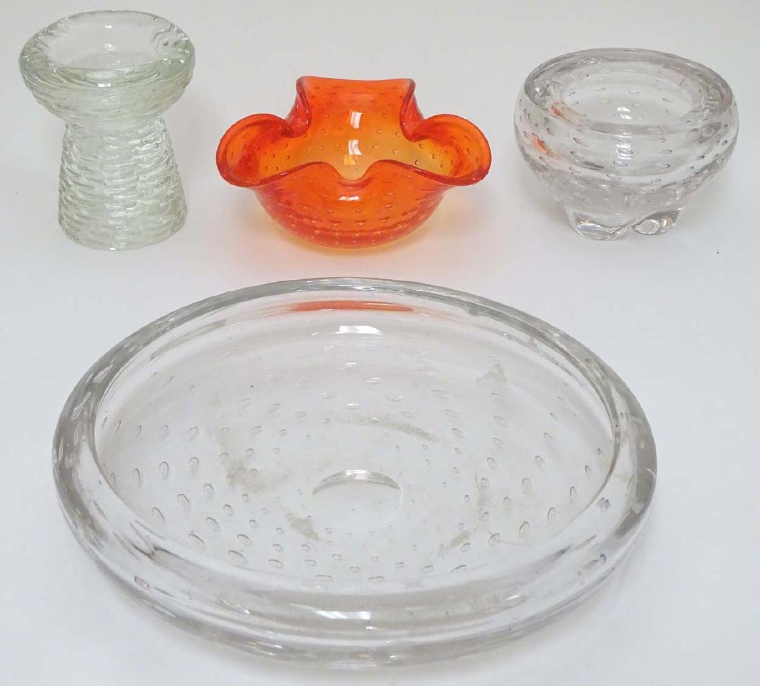 Glass : a collection of four assorted glass items in - 3