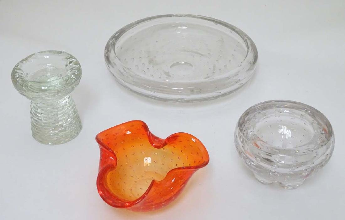 Glass : a collection of four assorted glass items in - 4