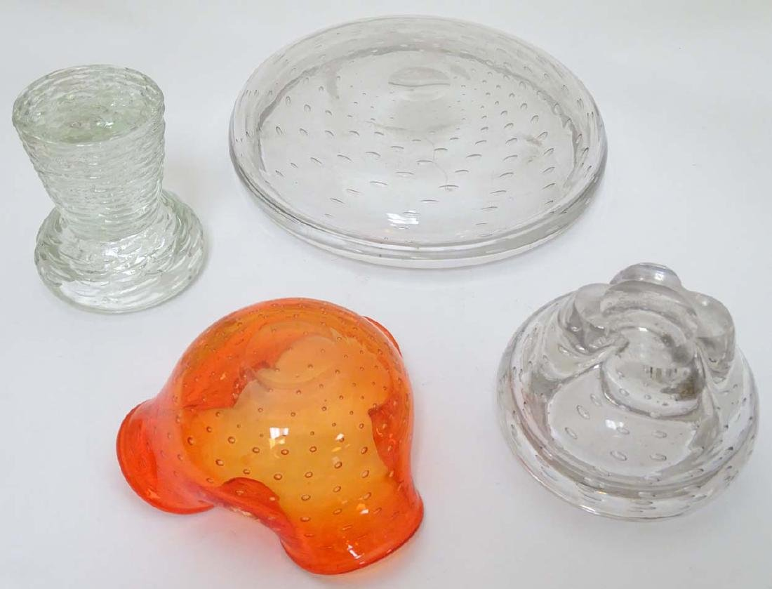 Glass : a collection of four assorted glass items in - 6