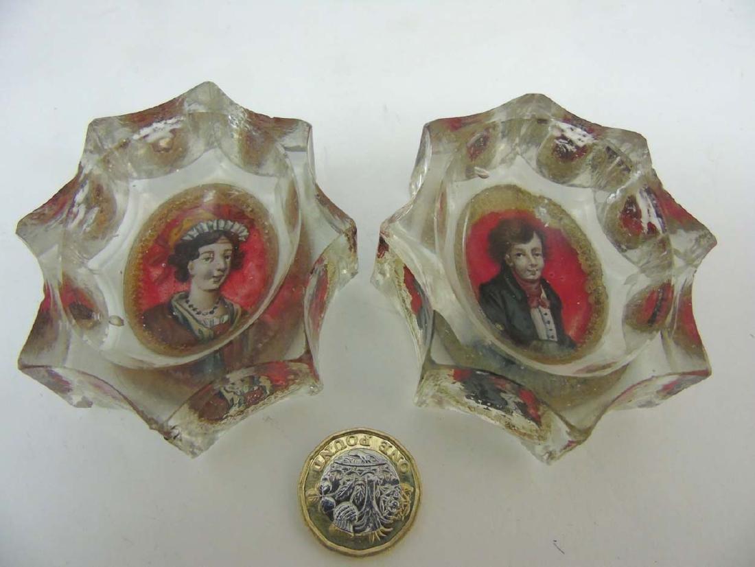 Georgian Glass : a pair of early 19 thC Bohemian glass