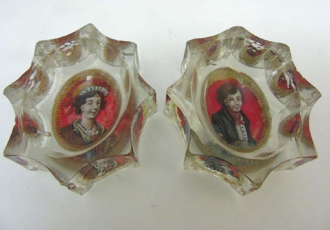 Georgian Glass : a pair of early 19 thC Bohemian glass - 4