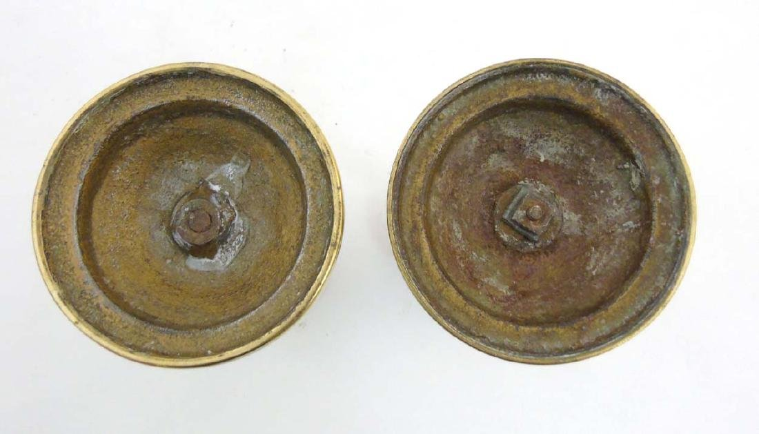 Arts and Crafts copper and brass candlesticks, the - 2