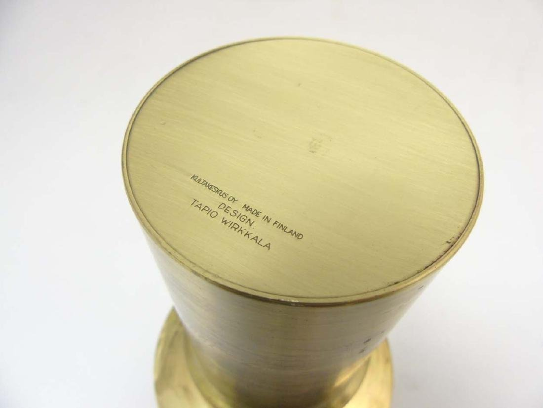 A Finnish brass candle stand  by  Tapio Wirkkala for - 2