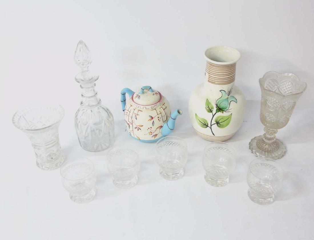 A quantity of assorted glass and ceramics comprising, a - 2