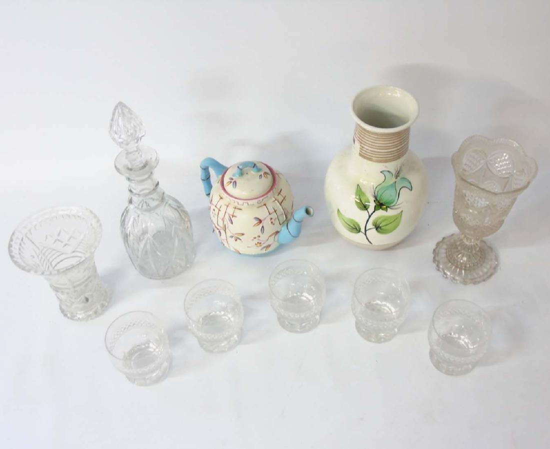A quantity of assorted glass and ceramics comprising, a - 3