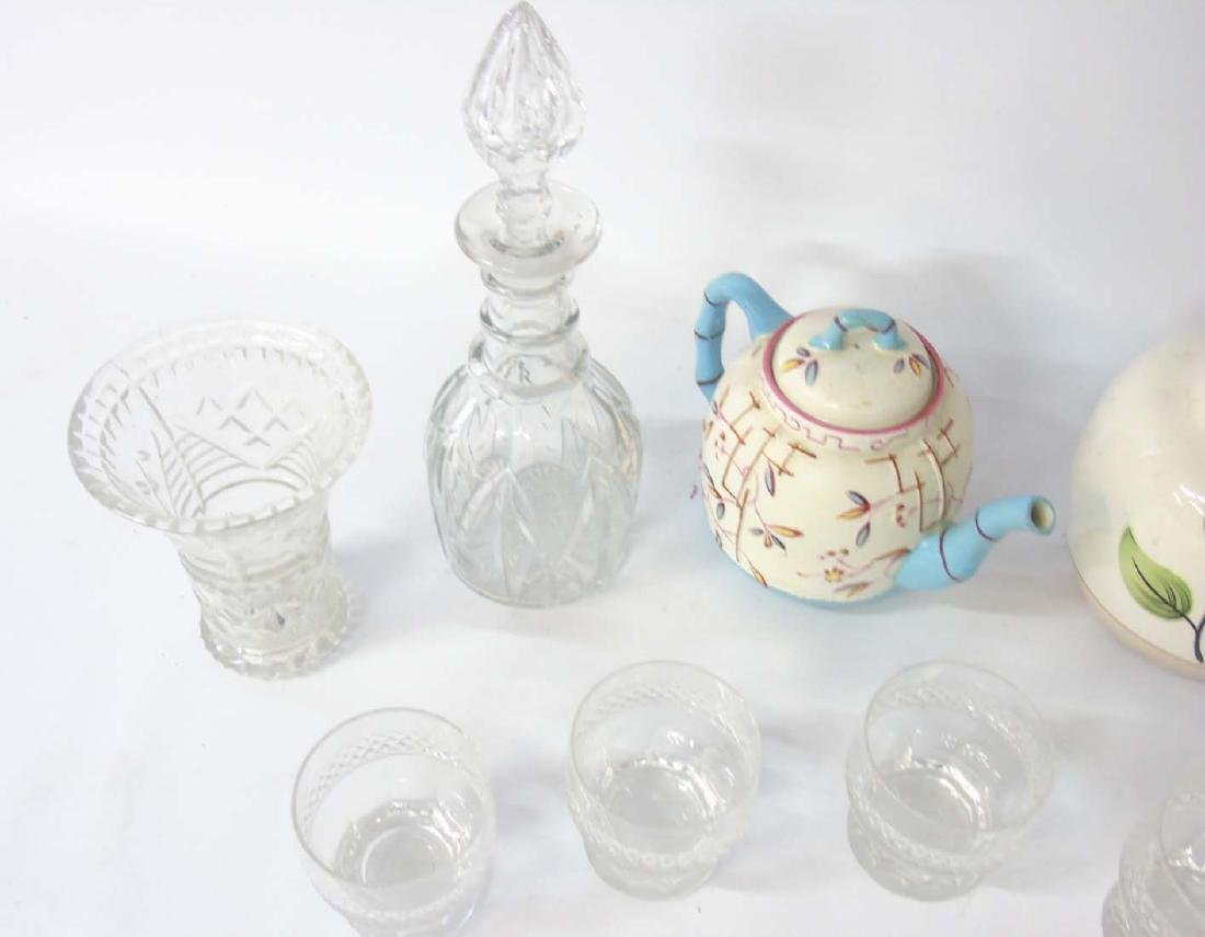A quantity of assorted glass and ceramics comprising, a - 4