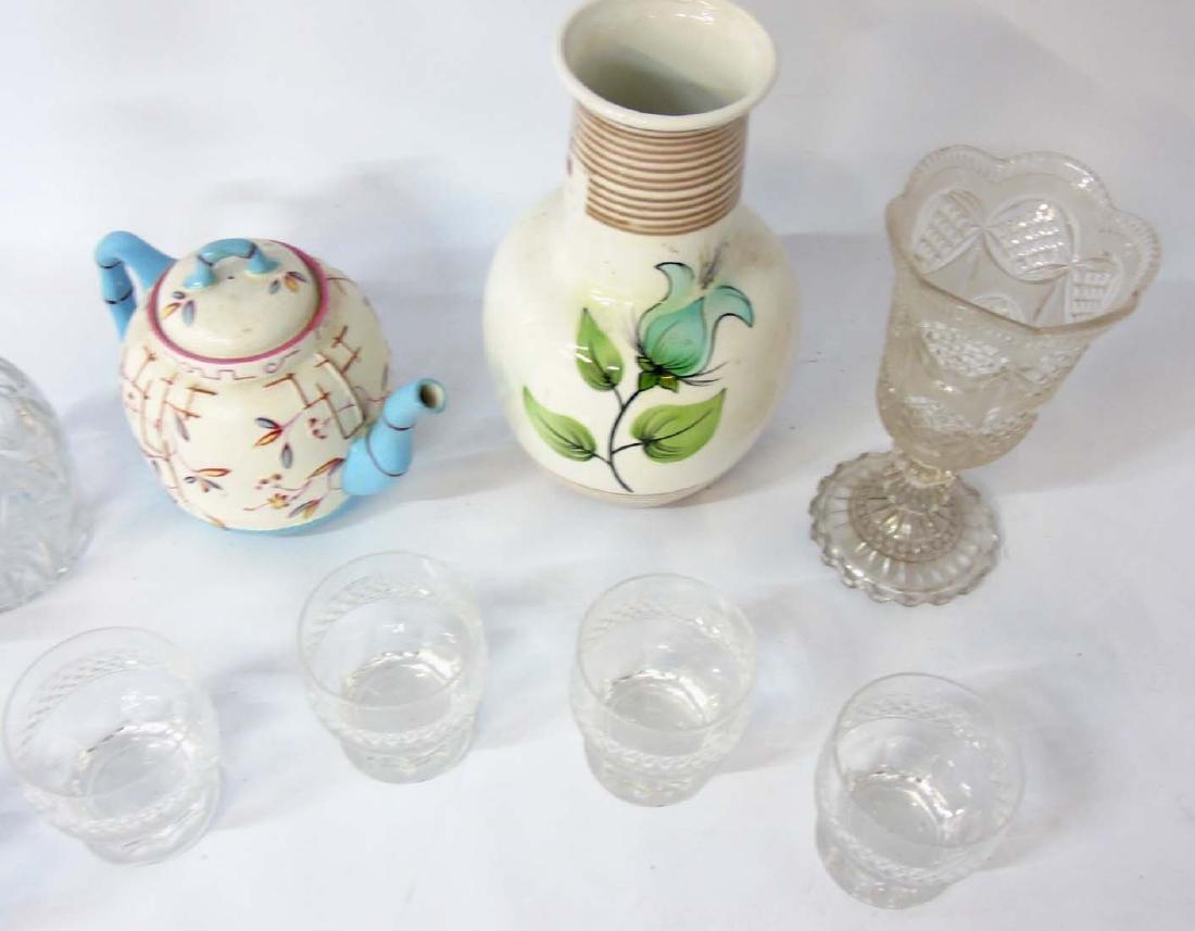 A quantity of assorted glass and ceramics comprising, a - 5