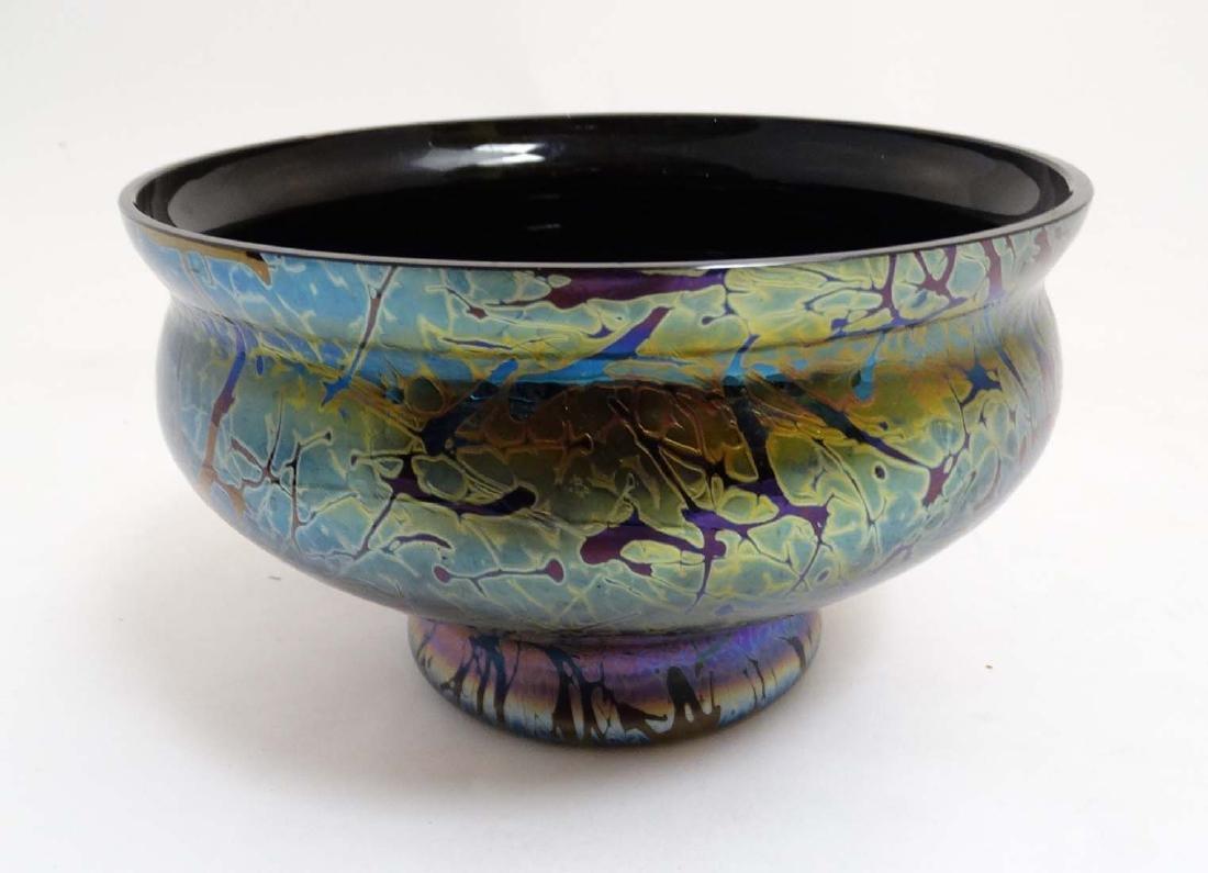 A Royal Brierley iridescent studio art glass bowl in - 2