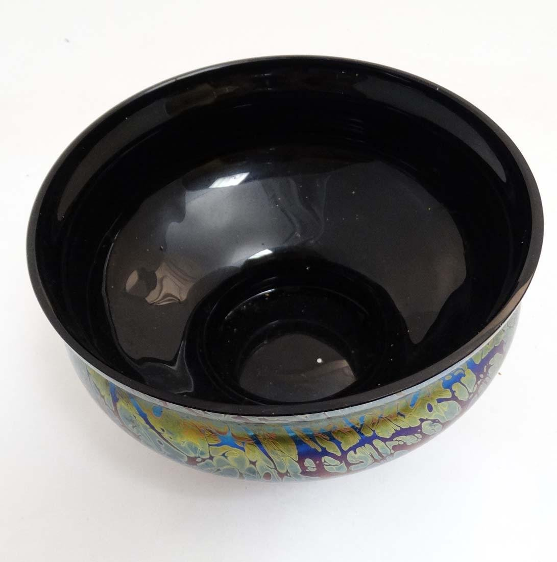 A Royal Brierley iridescent studio art glass bowl in - 3