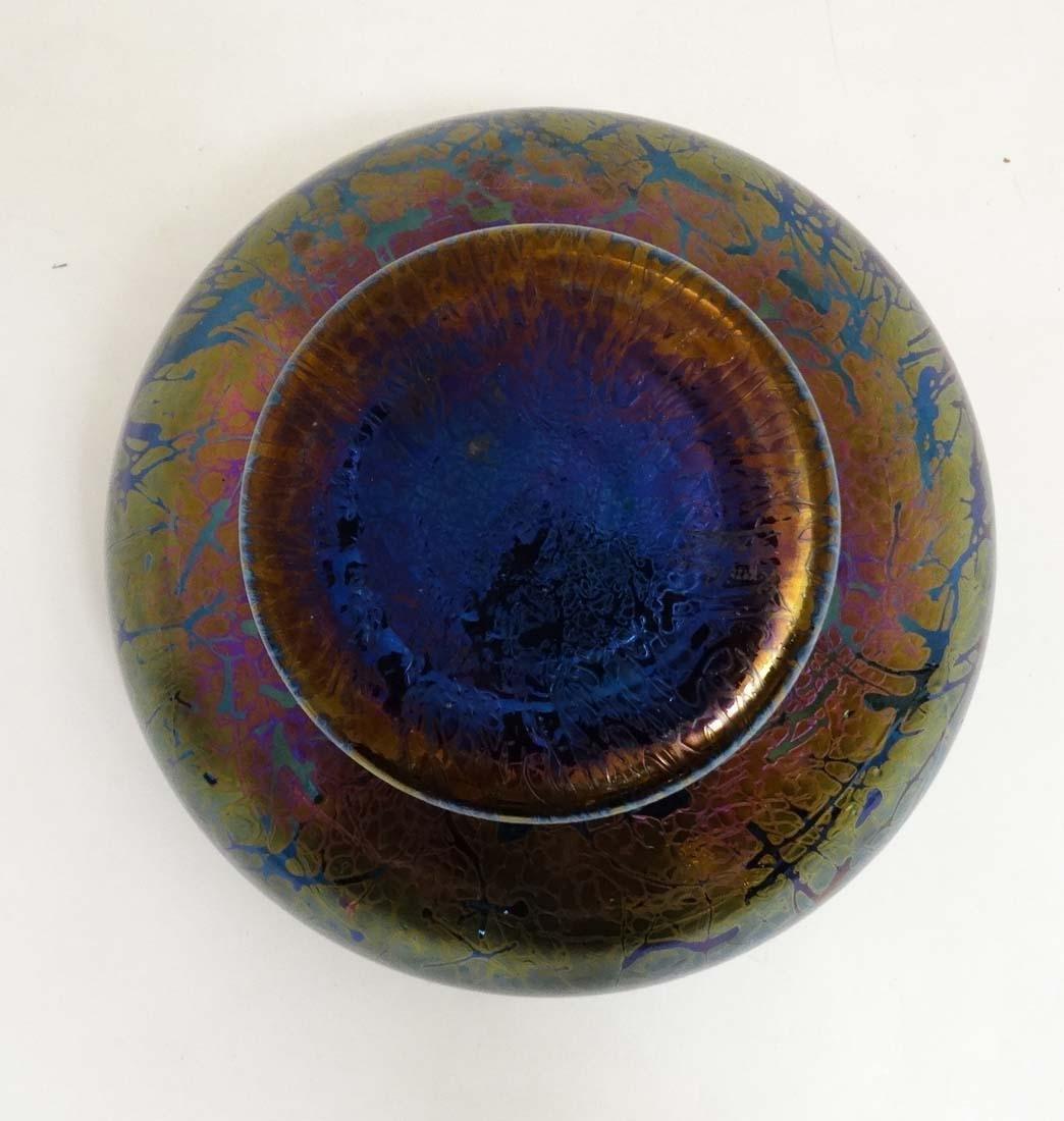 A Royal Brierley iridescent studio art glass bowl in - 4