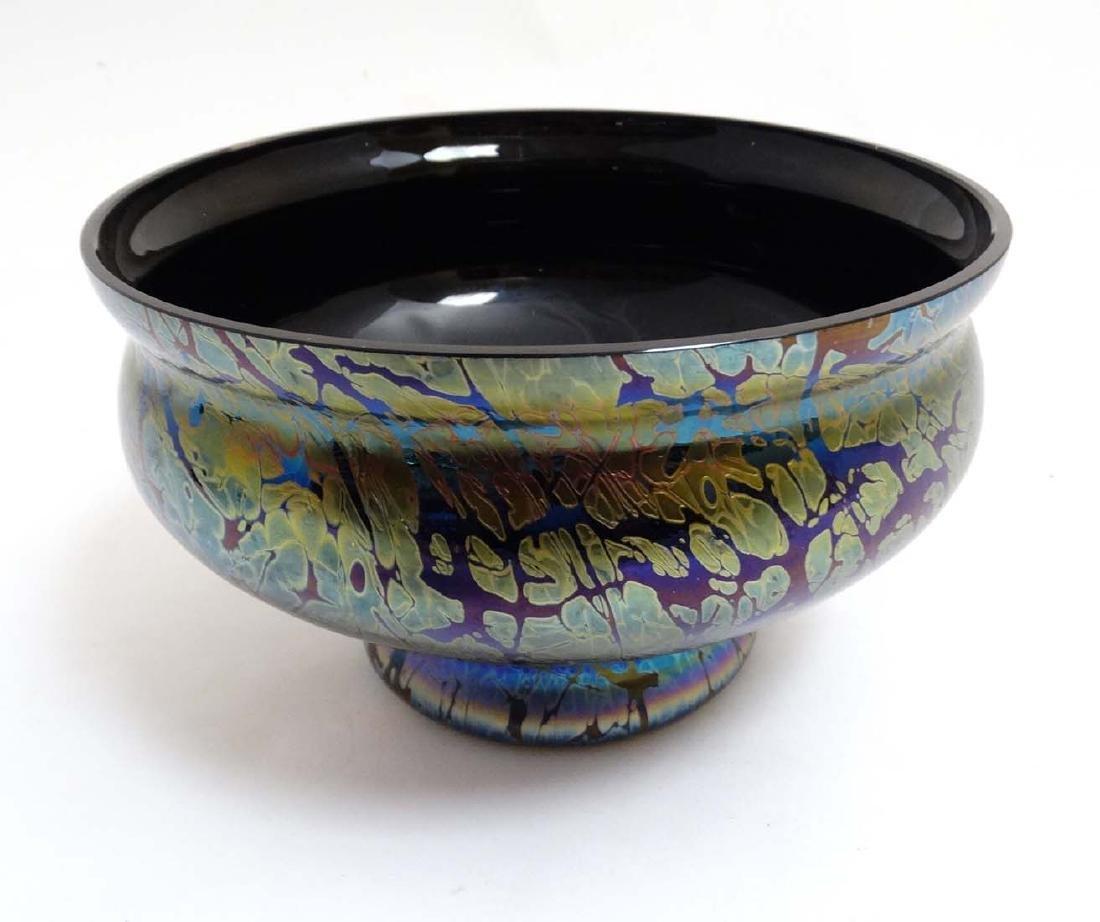 A Royal Brierley iridescent studio art glass bowl in - 6