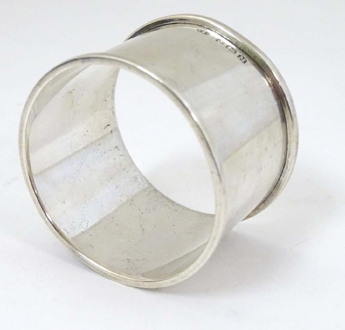 A silver napkin ring  hallmarked Birmingham 1936 maker - 2
