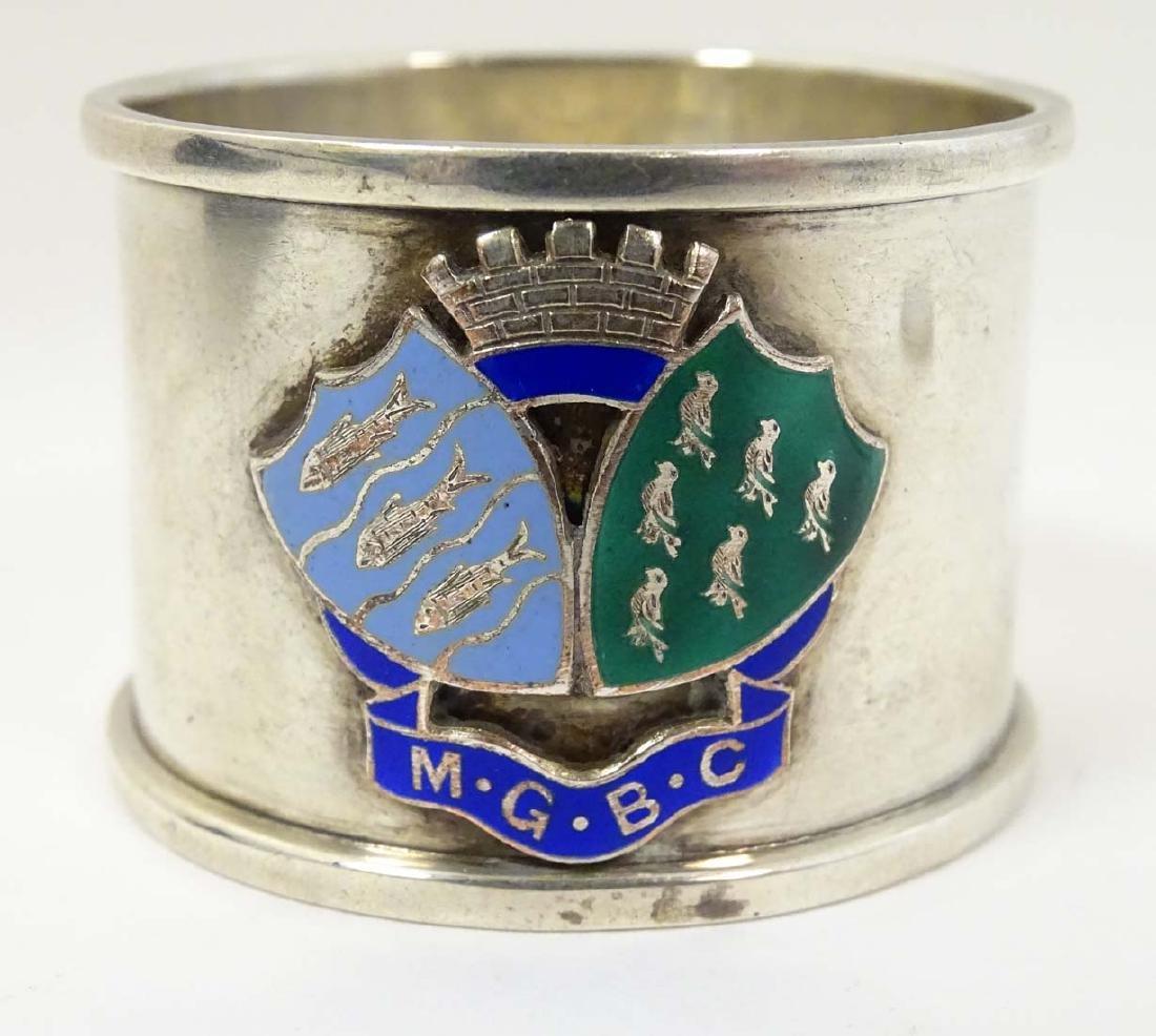 A silver napkin ring  hallmarked Birmingham 1936 maker - 5