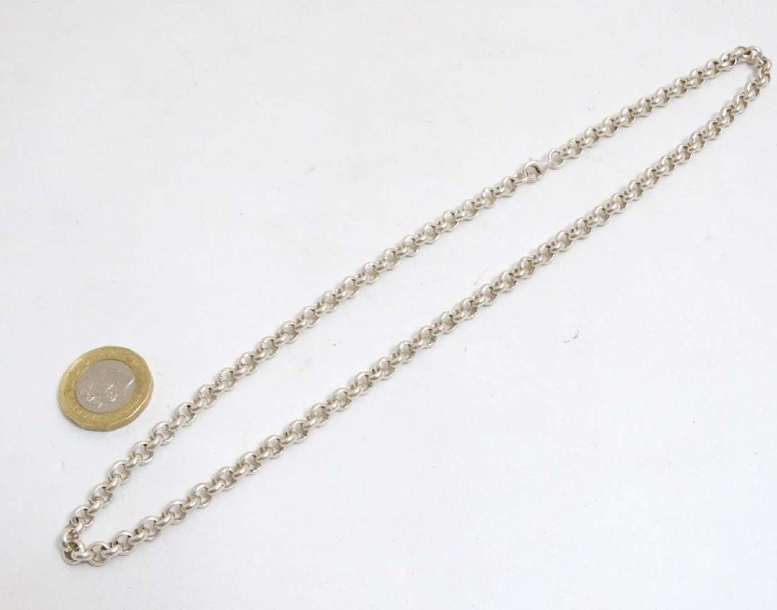 A silver chain necklace approx  20'' long (37g)