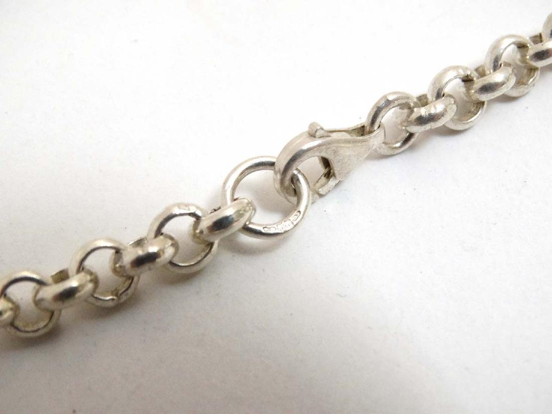 A silver chain necklace approx  20'' long (37g) - 4