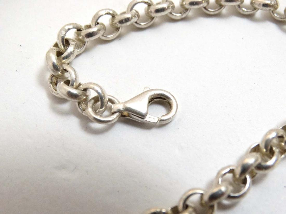 A silver chain necklace approx  20'' long (37g) - 5