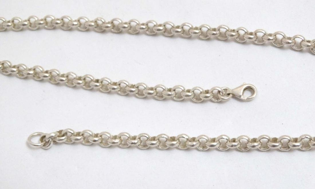 A silver chain necklace approx  20'' long (37g) - 6