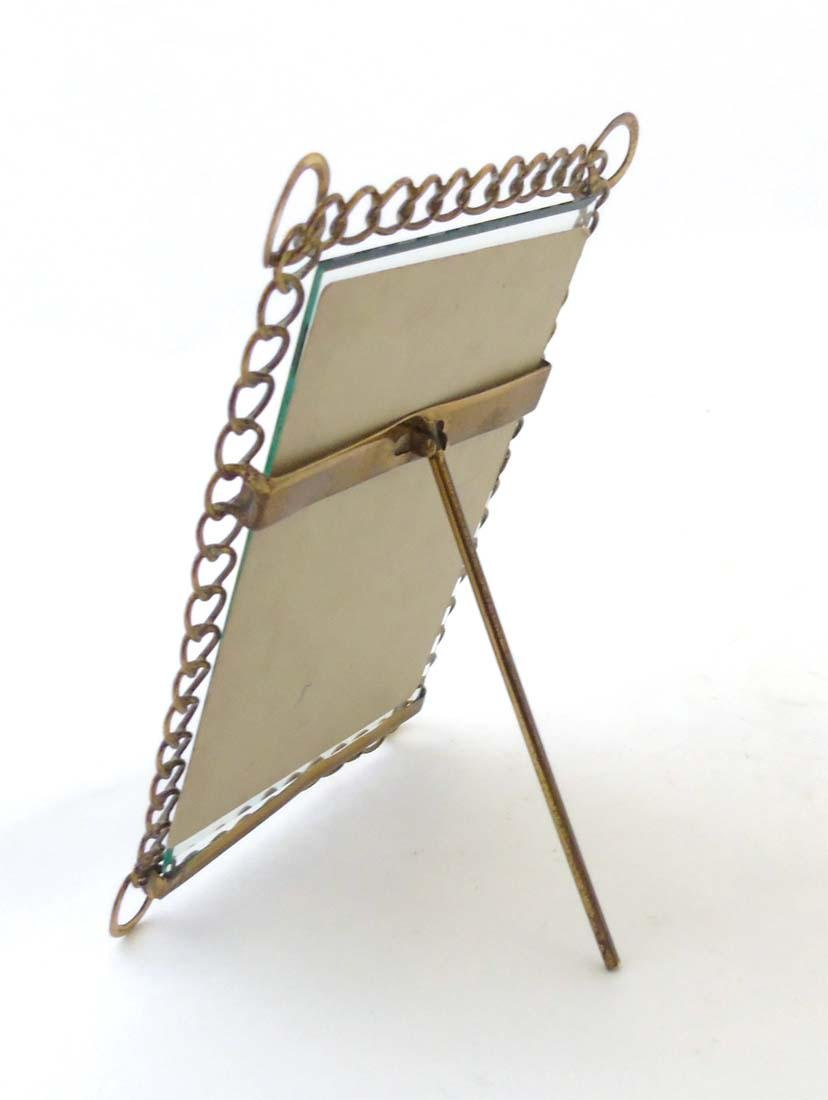 A c.1900 German flattened curblink frame with easel / - 3