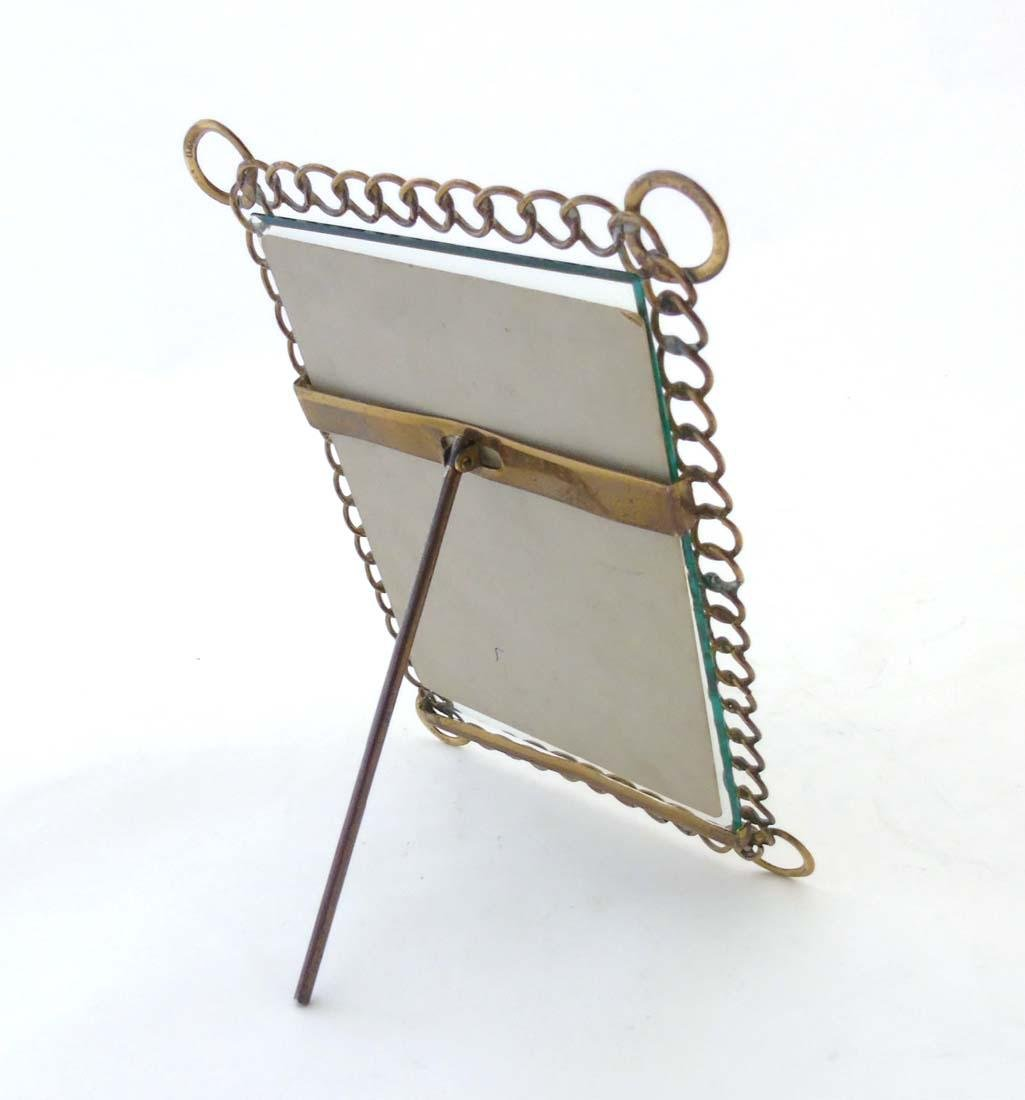 A c.1900 German flattened curblink frame with easel / - 4