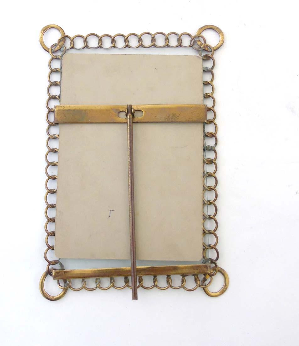 A c.1900 German flattened curblink frame with easel / - 5