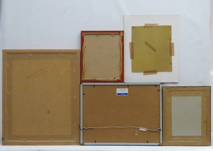 9 assorted  framed pictures , including watercolours , - 6