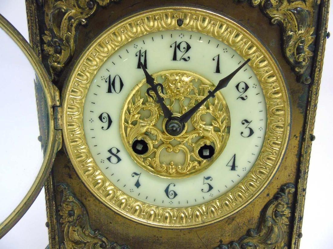 Brass ornate mantel clock  : A French ornate cased 8 - 4