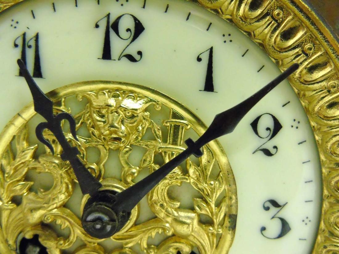 Brass ornate mantel clock  : A French ornate cased 8 - 5