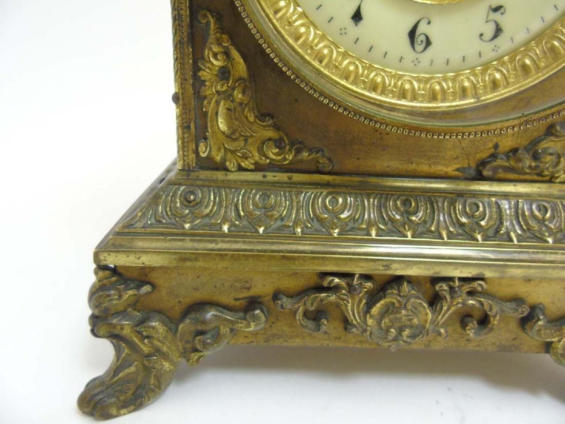 Brass ornate mantel clock  : A French ornate cased 8 - 7