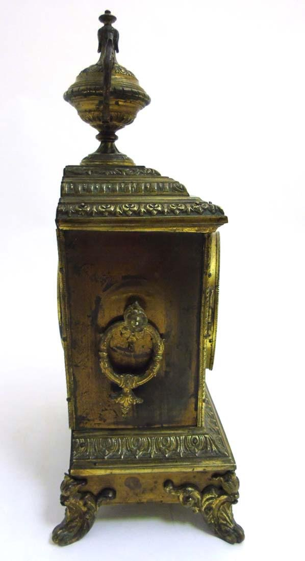 Brass ornate mantel clock  : A French ornate cased 8 - 8