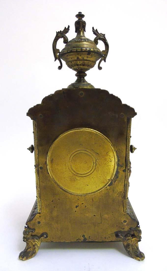 Brass ornate mantel clock  : A French ornate cased 8 - 9
