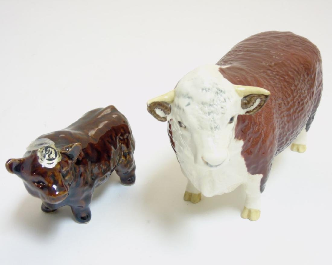 Two animal figurines comprising a Beswick Hereford bull - 3