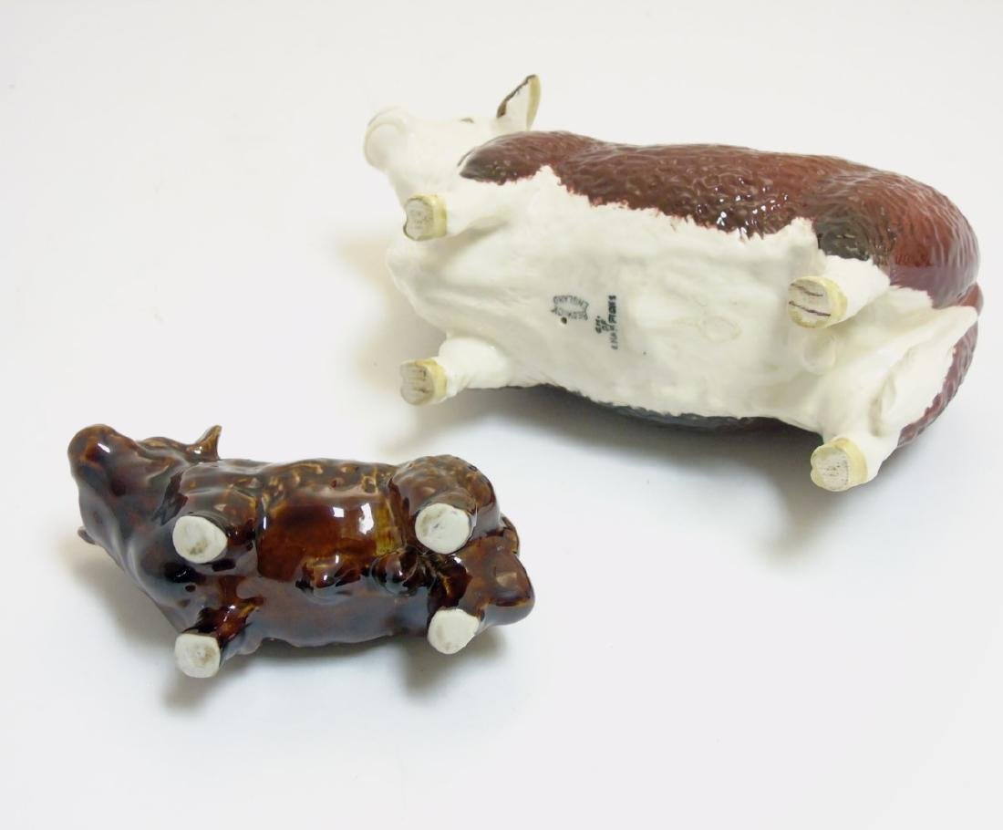 Two animal figurines comprising a Beswick Hereford bull - 5