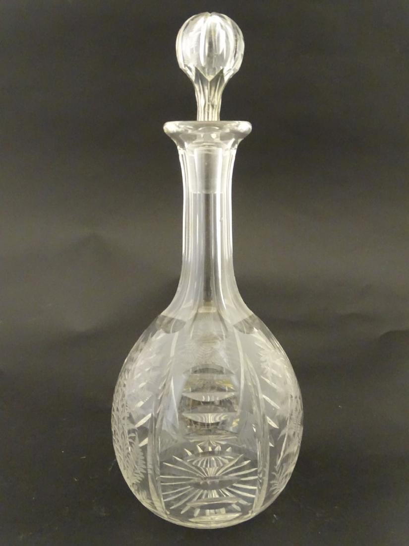 Victorian Glass : a Victorian ' Fernware ' decorated
