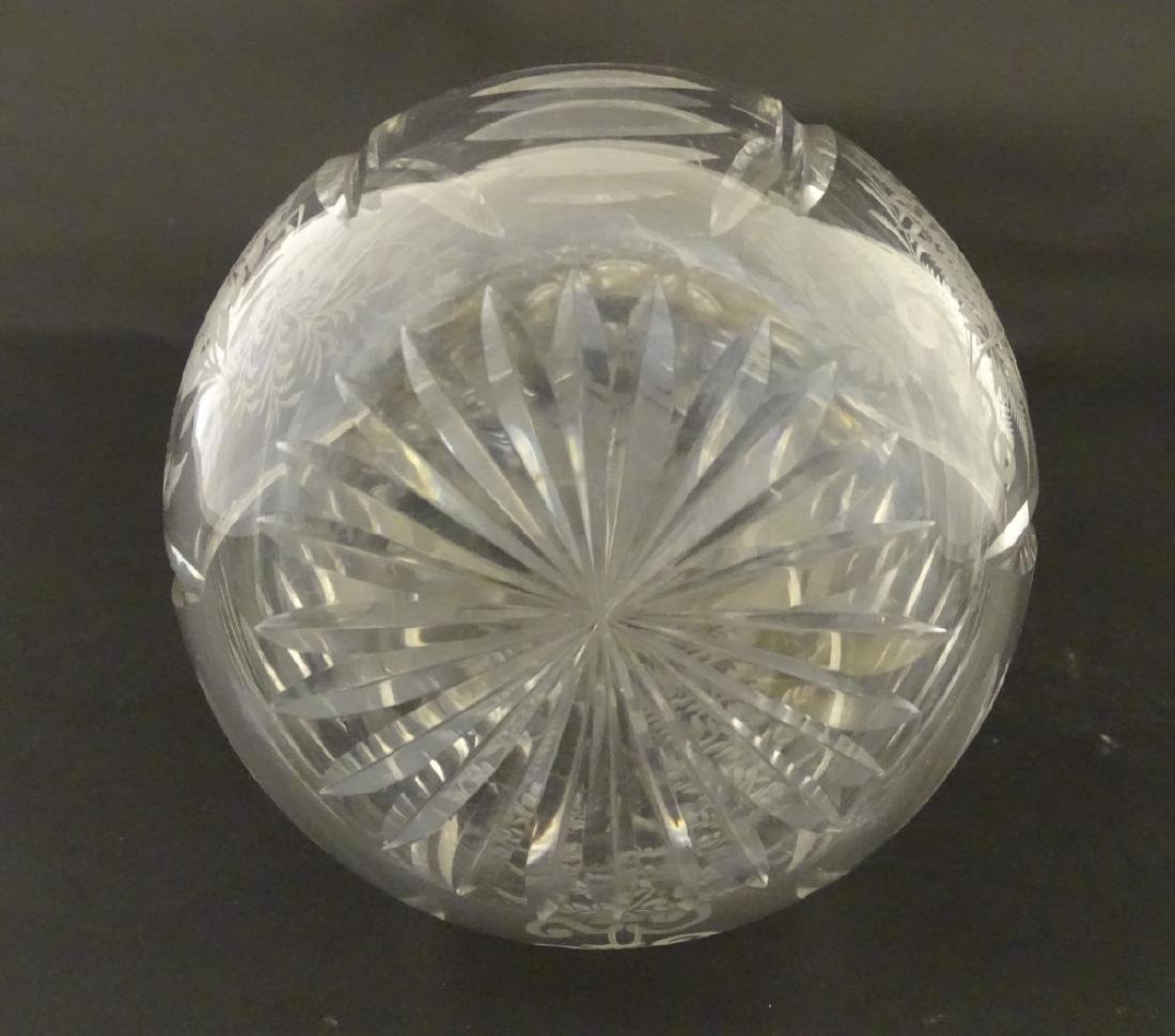 Victorian Glass : a Victorian ' Fernware ' decorated - 2