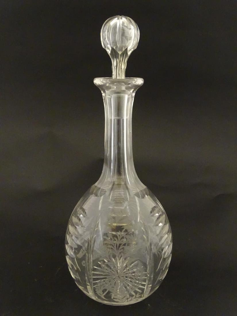 Victorian Glass : a Victorian ' Fernware ' decorated - 3
