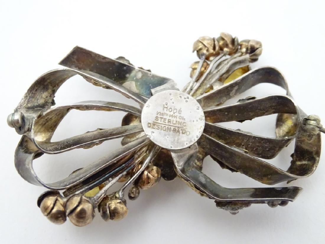 American Vintage Costume Jewelery by Hobé : A silver - 2